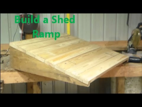 build shed outdoor howtospecialist how ramp sheds step a to by