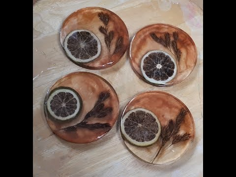 DIY Resin Coasters With Dried Fruits And Flowers | Resin Art #40