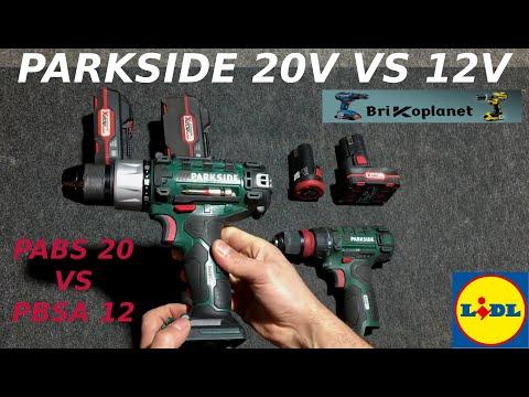 PARKSIDE TALADRO 20V PABS 20 - VS - 12V PBSA 12