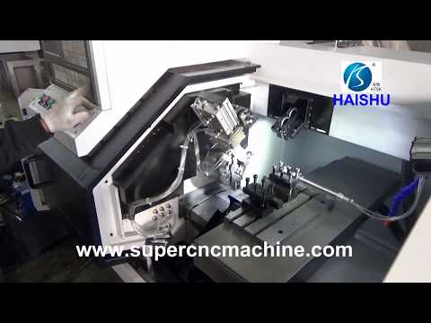 Customized automatic pneumatic feeding CNC lathe machine