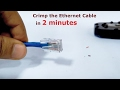 How to crimp the Ethernet cable | A step by step 2 minute video
