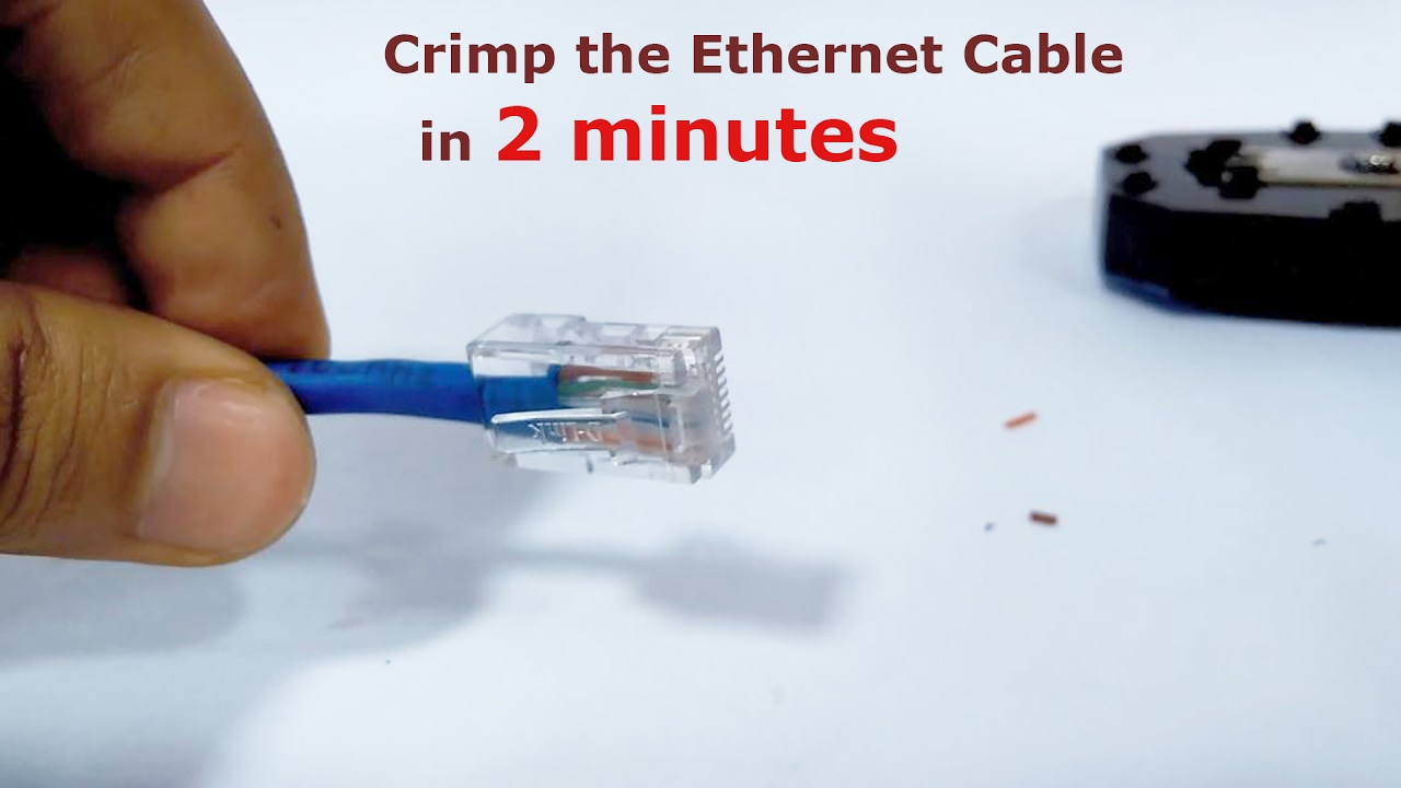 maxresdefault how to crimp the ethernet cable a step by step 2 minute video