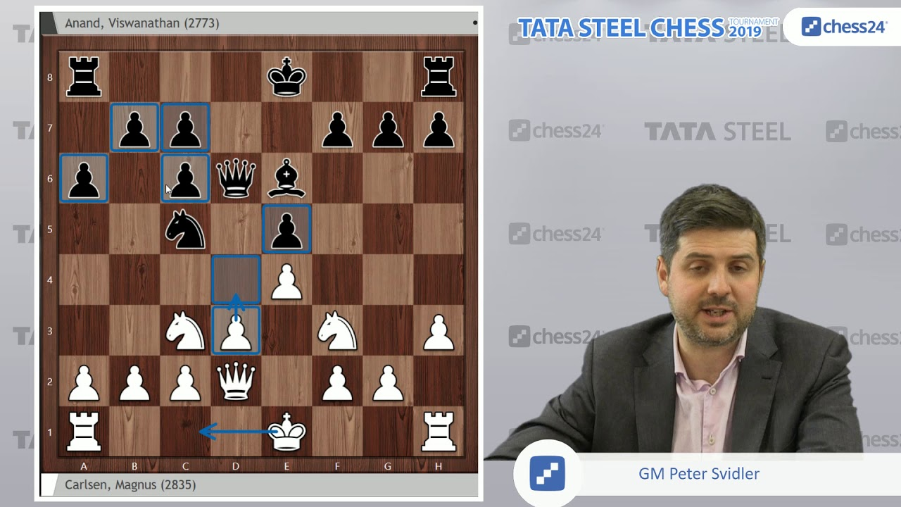carlsen anand tata steel chess 2019 svidler s game of the day rh youtube com chess 2019 tata blitz chess 2019