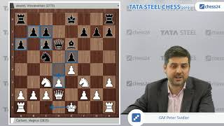 Carlsen - Anand, Tata Steel Chess 2019: Svidler's Game of the Day