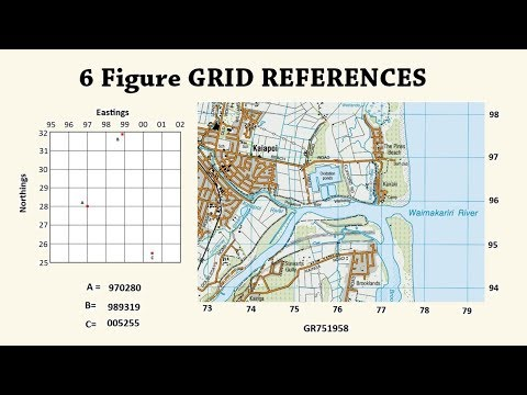 How to read a 6 Figure Grid Reference