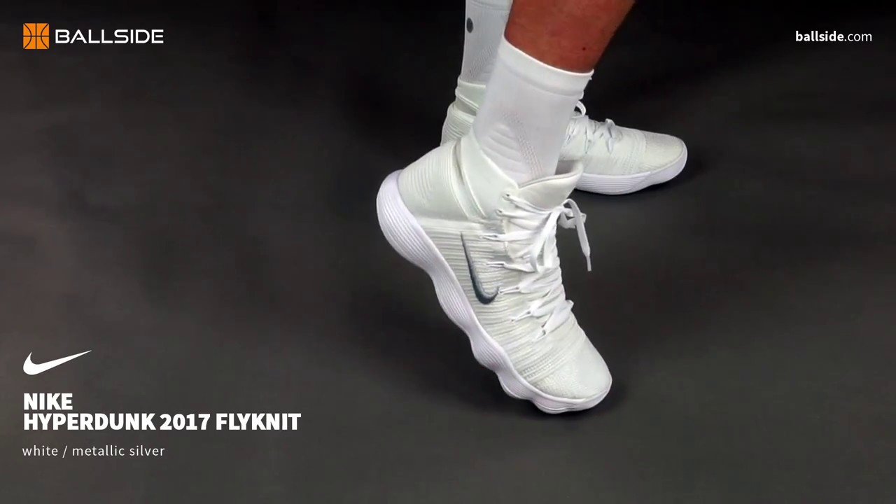 34d95b3f2b09 Nike React Hyperdunk 2017 Flyknit on feet - YouTube