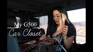 WHAT'S IN MY CAR CLOSET | Mercedes G500 4×4²