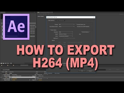 After Effects Tutorial: How to export H264 (mp4)
