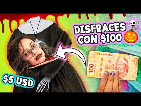 Reto DISFRACES para HALLOWEEN con $100 pesos  Craftingeek
