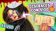 Reto DISFRACES para HALLOWEEN con $100 pesos ✄ Craftingeek