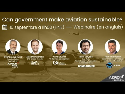 Webinaire (en anglais) : Can government make aviation sustainable?