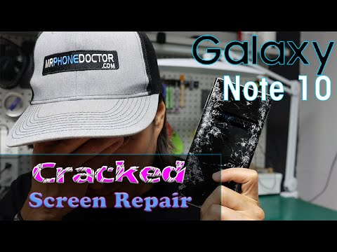 Samsung Galaxy Note 10 Cracked Screen Repaired Without Taking Phone Apart.