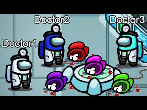 Doctors in MedBay Challenge on AMONG US!