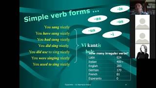 Corso di esperanto per italofoni. Lezione 3 (parte 1). 14/04/2020.