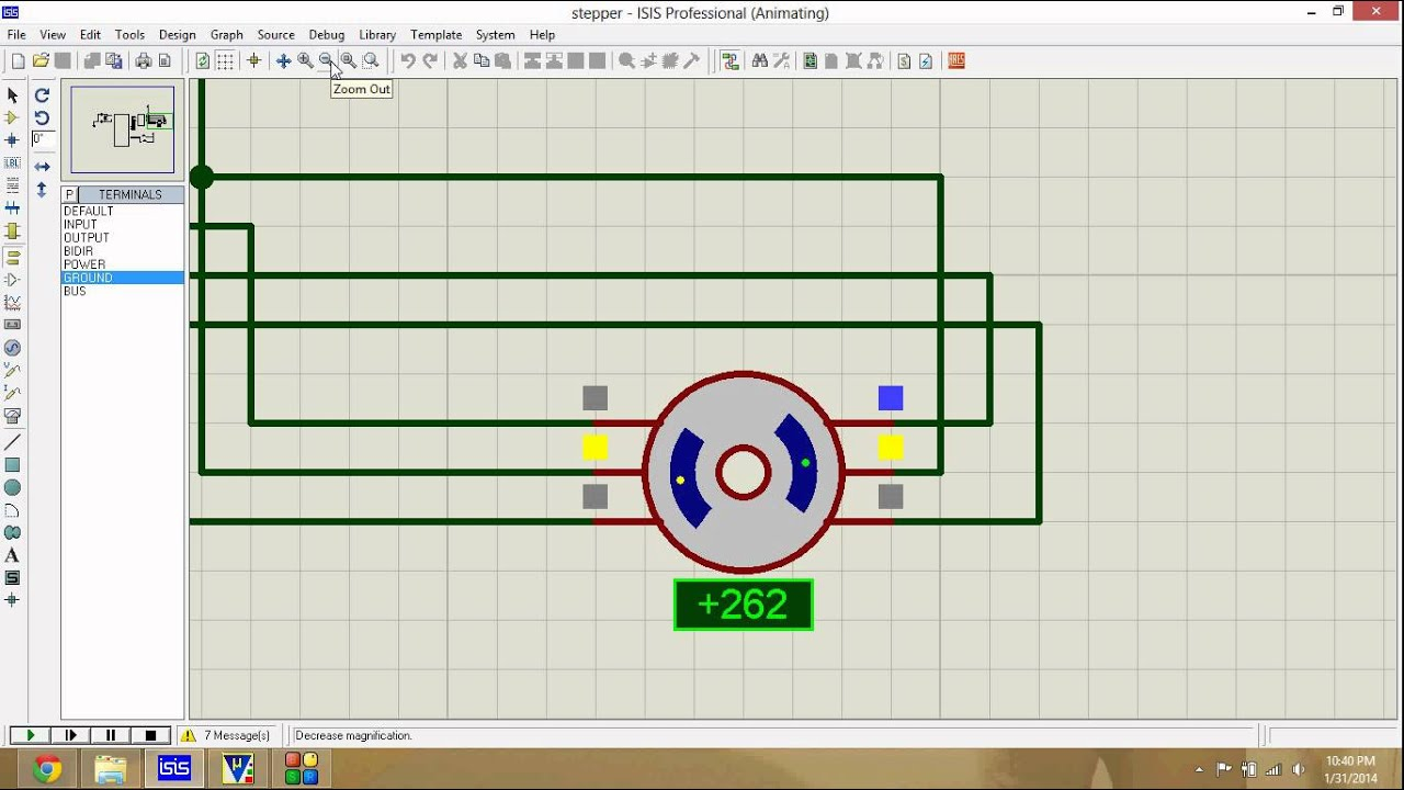 stepper motor interfacing with 8051(code+simulation)