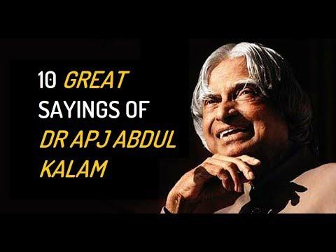 60 Great Sayings Of Dr APJ Abdul Kalam YouTube Enchanting Great Sayings