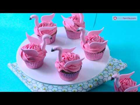 Cupcakes Flamants Roses - Cake Design d'Anne-Sophie