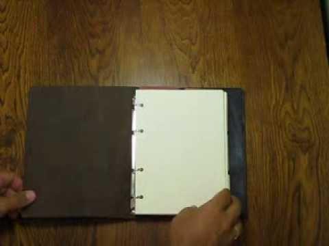 Сделать блокнот своими руками с кольцами
