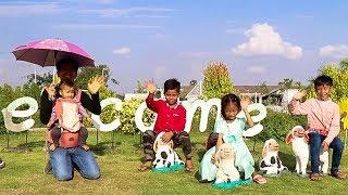 Family Visiting Playground Park