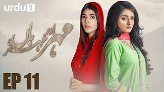 Meher Aur Meherban   - Episode 11 | Urdu 1 Dramas | Affan Waheed, Sanam Chaudhry, Ali Abbas