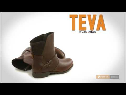 Teva De La Vina Low Boots - Felted Collar, Leather (For Women)