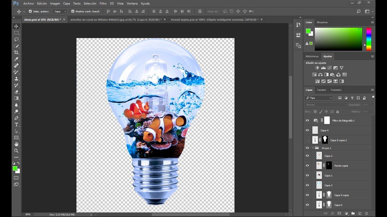 fotomontaje GENIAL 💡 con Photoshop CC | Koradi Productions - YouTube