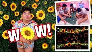 GUMAWA KAMI NG SUNFLOWER GARDEN WALL (SOBRANG GANDA!!!)  | LC VLOGS #231