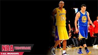 Stephen Curry vs Kobe Bryant NASTY Duel 2013.04.12 - Kobe with 34 Pts, Steph With 47 Pts, 9 Threes!