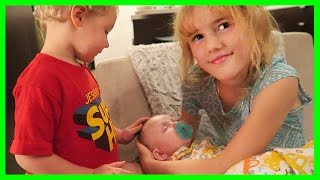 These kids want a baby! w/ Kitties Mama