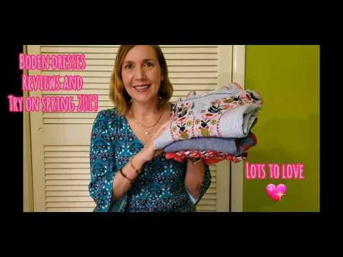 Boden Dresses Spring/Summer 2019... Reviews and Tryons!!!