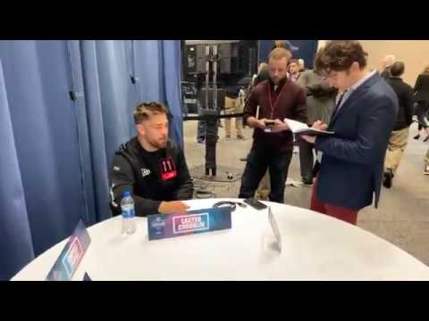 Minnesota LB Carter Coughlin Interview At 2020 NFL Combine