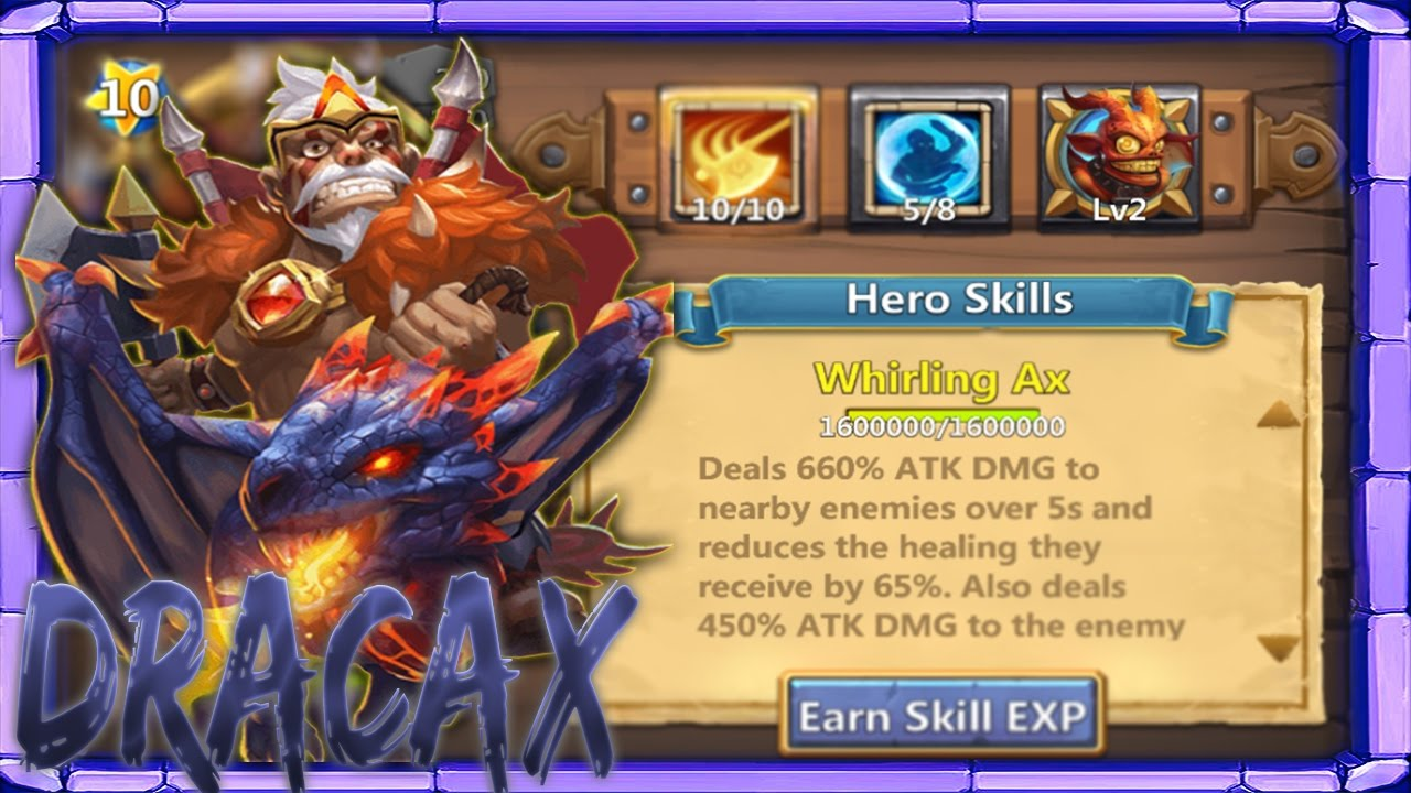 Dracax | 10\10 Whirling Axe | Double Evolved | Level 200 | 5 Bulwark |  Gameplay