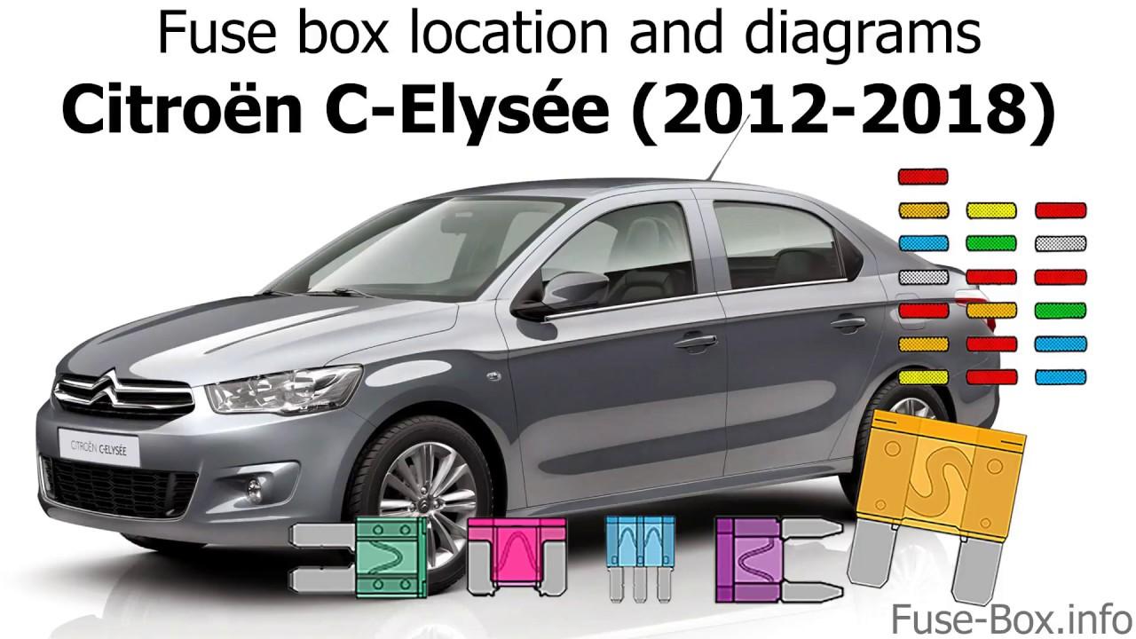 Fuse Box Location And Diagrams  Citroen C-elysee  2012-2018
