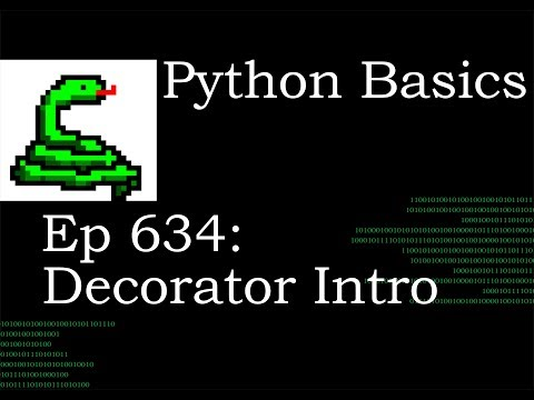 Python Basics Tutorial Decorator Intro thumbnail