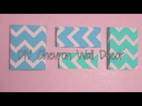DIY Chevron Wall Decor {easy} - YouTube