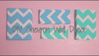 DIY Chevron Wall Decor {easy}