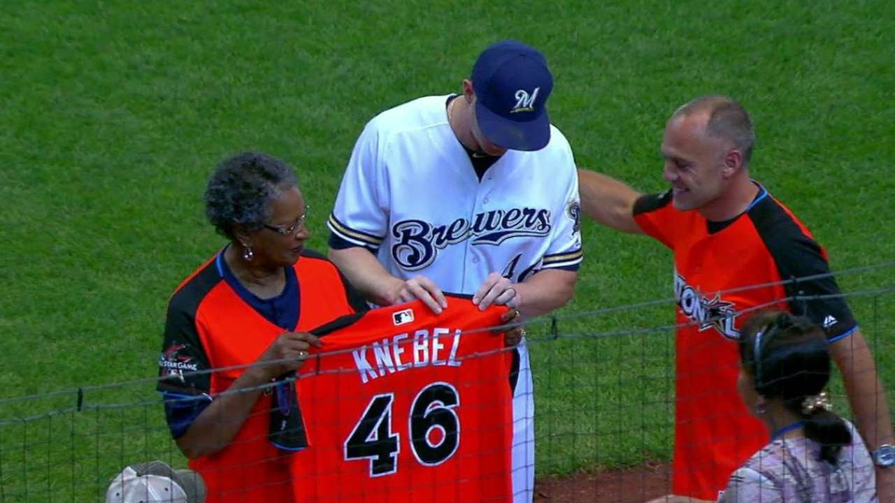 85f3f5e75 BAL MIL  Knebel receives his NL All-Star jersey - YouTube
