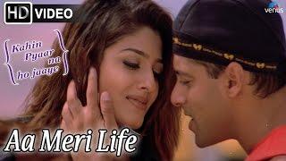 Download Aa Meri Life (HD) Full  Song | Kahin Pyaar Na Ho Jaaye | Salman Khan, Raveena Tandon | MP3 song and Music Video