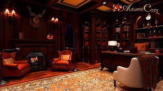 🕯🎃READING ROOM AMBIENCE: Quill, Newspaper Flipping, Creaking, Fireplace Sounds
