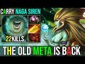 The Old Meta Is Back Naga Siren Hard Carry Items Build With Epic Dodge 22Kills Dota 2 Highlights mp3
