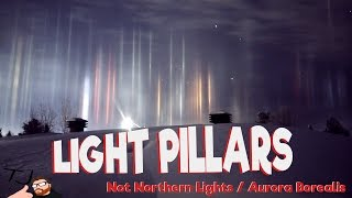 laser beams from space? what are light pillars?
