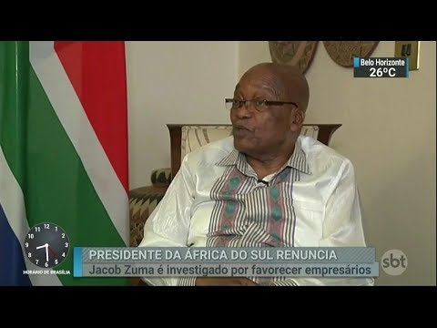 Presidente da África do Sul renuncia nesta quarta-feira | SBT Brasil (14/02/18)