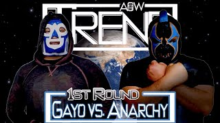 1st Round Of #1 Contendership Brass Title: El Gayo Loco vs. Mace Anarchy (AOW: Trend)