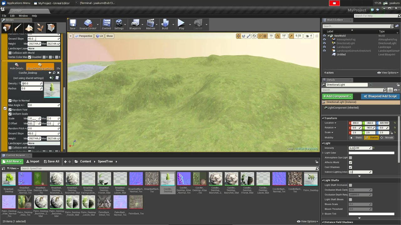 Speedtree on community unreal engine 4 editor on linux youtube speedtree on community unreal engine 4 editor on linux malvernweather Gallery