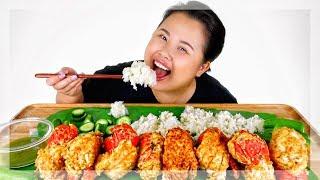 FRIED LOBSTER TAILS MUKBANG 먹방 | EATING SHOW