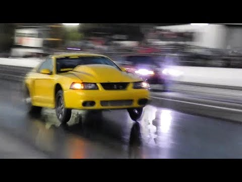 BoostedGT vs Jeff Speer's Turbo Lsx Mustang at Red. 9 no prep