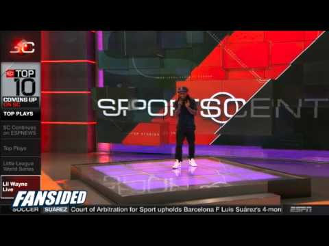 Lil Wayne free styles Sports Center theme