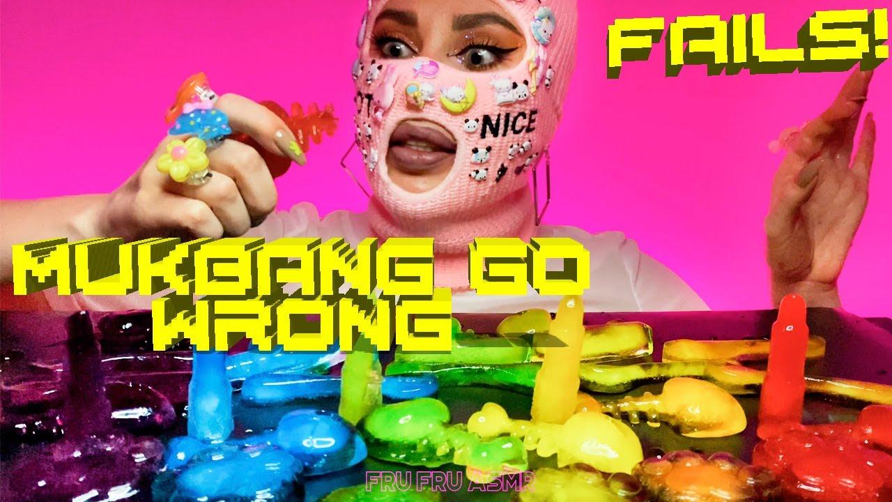 ASMR Mukbang Gone Wrong | Rainbow Ice Melting in Hands | ASMR Mukbang Fails | Fru Fru ASMR