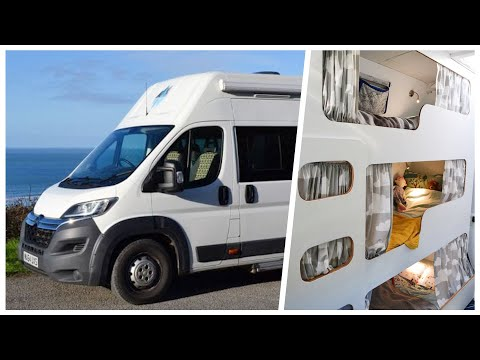 Van Conversion with TRIPLE BUNK BEDS &  6 Belted Seats | 👨👩👦 ULTIMATE FAMILY Camper 🚐