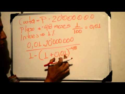 COMO CALCULAR LA CUOTA DE UN PRESTAMO de YouTube · Duración:  3 minutos 59 segundos